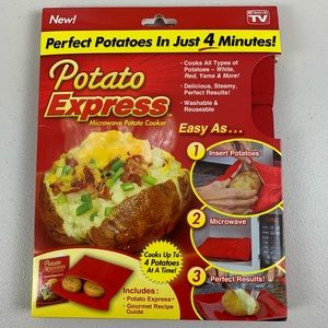 Microwave Potato Cooker, Perfect Potatoes in 4 min